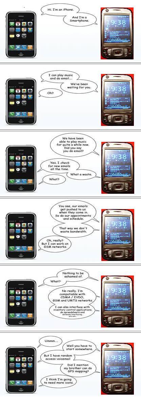 iPhone vs. HTC Kaiser