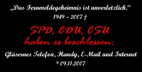 RIP: Fernmeldgeheimnis