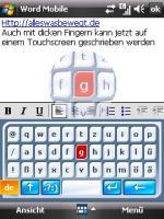 Pocket PC Onscreen Tastatur