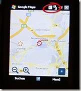 EDGE-Empfang in Stuttgart - Anzeige Google-Maps