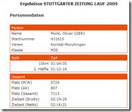 Ergebnis Stuttgarter-Zeitung-Lauf 2009