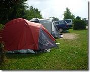 großräumige Stellplätze auf dem Campingplatz Herzog - Gunzenhausen
