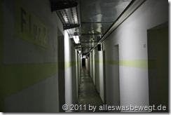 Flur im Atombunker