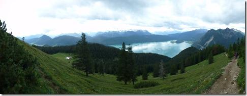 Panoramaaufnahme Walchensee